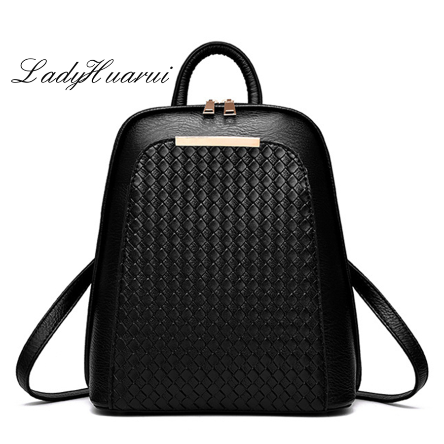 Women Backpack High Quality PU Leather Mochila Escolar School Bags For Teenagers Girls Top-handle Backpacks Herald Q3 retail 1pc 2015 new children backpacks hello kitty school bags sweet bows pu leather school backpacks for girls mochila escolar