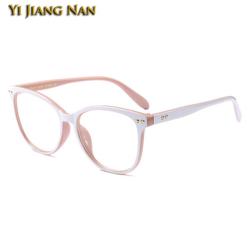 Yi Jiang na marca grandes gafas montura de prescripción anteojos occhiali Da Vista Donna gafas mujer marco
