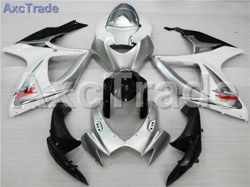 Motorcycle Fairings For Suzuki GSXR GSX-R 600 750 GSXR600 GSXR750 2006 2007 K6 06 07 ABS Plastic Injection Fairing Bodywork Kit custom road fairing kits for suzuki glossy flat black 2006 gsxr 1000 k5 2005 gsx r1000 06 05 motorcycle fairings kit