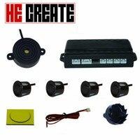 HE CREATE 4 Car Parking Sensors Buzzer Parking Sensor Kit Reverse Backup Radar Sound Alert Indicator