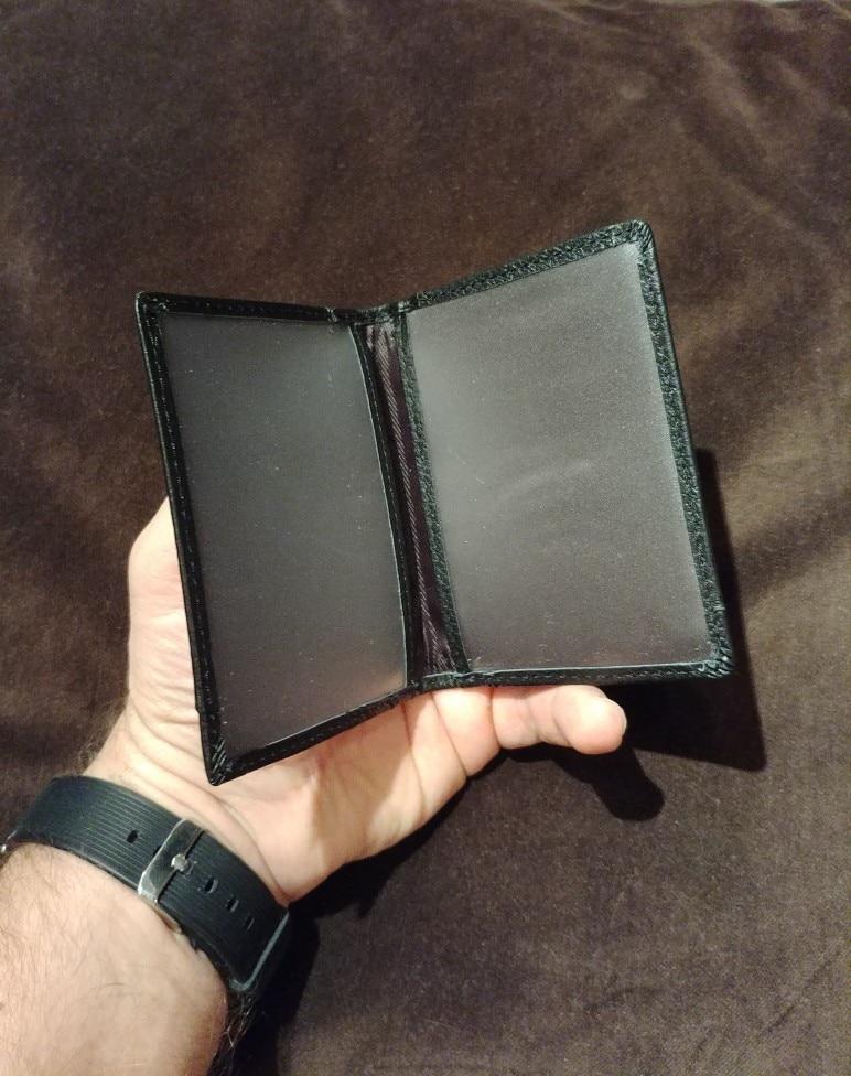 Men Short Purse Cow Leather ID Credit Card Holder Money Bag Mini Wallet Best Sale-WT photo review