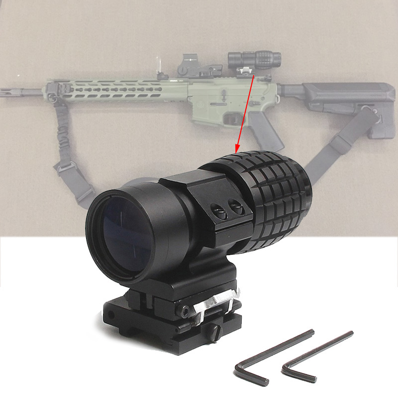 Tactical 3X Magnifier Scope Sight with Flip To Side 20mm Rail Mount Scopes For Picatinny Rail Airsoft Rifle Accessories tactical red dot sight scope 3x magnifier side flip mount for picatinny rial mount base rbo bk m7467