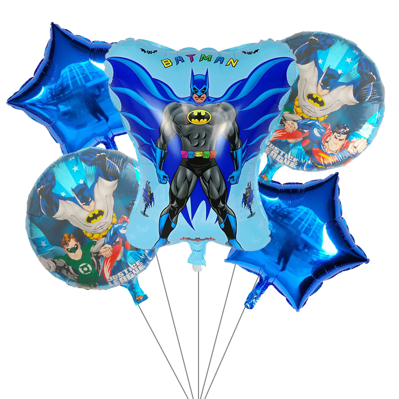 Image 4 - 5pcs Superhero Spiderman Avengers Batman America Foil Balloons Birthday Party Supplies Superman Air balloon Children's Day Toys-in Ballons & Accessories from Home & Garden