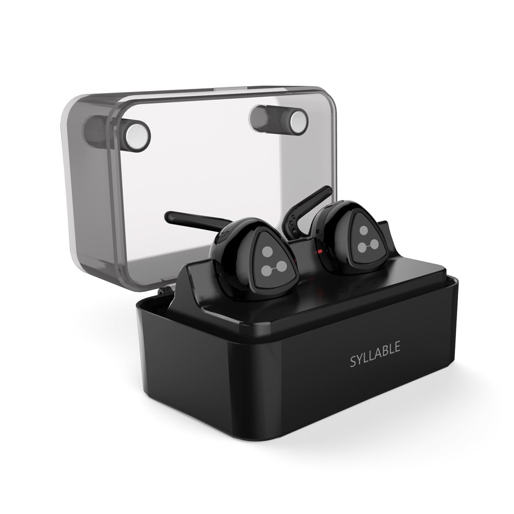 SYLLABLE D900MINI Mini Bluetooth Earphone V4.1 Wireless In ear Earphone Earbuds Invisible Sport Headset with Charging Power Bank original senfer dt2 ie800 dynamic with 2ba hybrid drive in ear earphone ceramic hifi earphone earbuds with mmcx interface