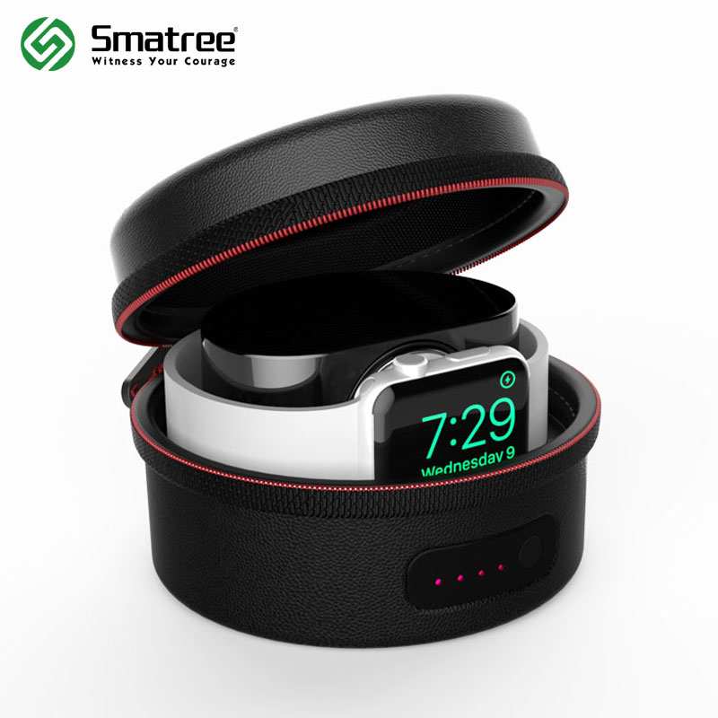 Smatree Charging Case Bag for Apple Watch Series 1,Series 2,Series 3(Not Include Original Magnetic Charging Cable),Black/White magnetic charging dock usb charging data cable for samsung galaxy note 3 white black 90cm