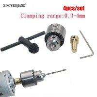 Micro-Motor-Drill-Chucks-Clamping-03-4mm-Jt0-Taper-Mounted-Drill-Chuck-With-Chuck-Key-317mm-Brass-Mini-Electric-Motor-Shaft-4