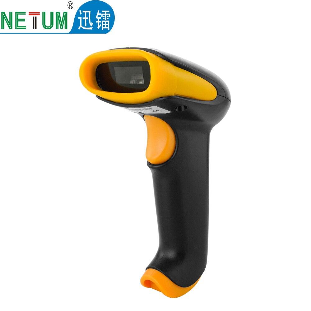 Портативный Лазерный Сканер Штрих-Кода Проводной 1D Штрих-Кодов для POS Системы, бесплатная Доставка Желтый HW-LC9