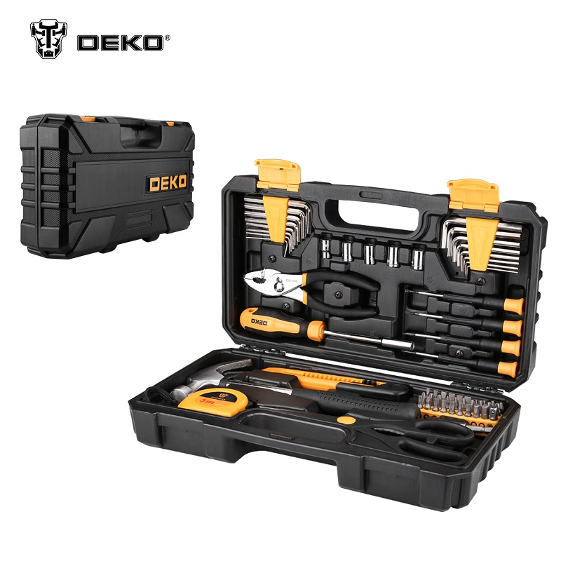 Tool Kit DEKO PRO DKMT62.  Socket Wrench Tool Set Auto Repair Mixed Tool Combination Package Hand Plastic Toolbox magnified eyeglass repair kit