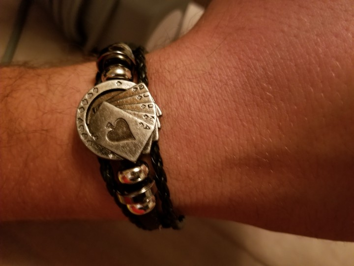Stainless Steel Vintage Pocker Bracelet with Lucky Cards photo review