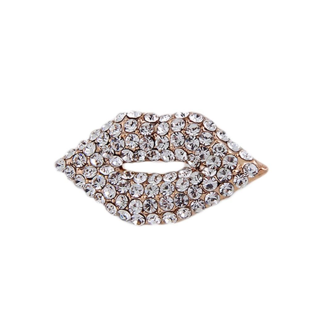 2017 New Version High end Lip Shaped Bridal Brooch Wedding Corsage Joker font b Clothing b