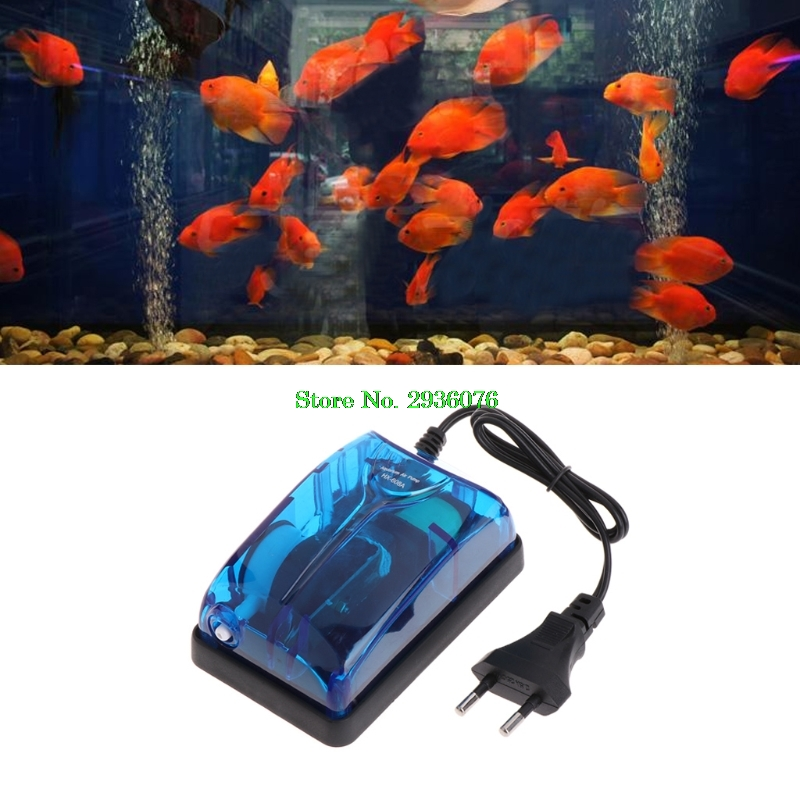 EU Plug Aquarium Air Pump Oxygen Fish Air Pump Tank Energy Ultra Silent Single Outlet