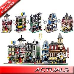 1105-1109 Decool 5pcs/lot City Mini Street View Houses Christmas Children Gift Building Blocks Bricks Compatible with Lego MOC