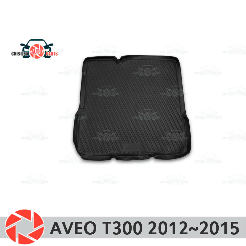 Фото - Trunk mat for Chevrolet Aveo T300 2012~2015 trunk floor rugs non slip polyurethane dirt protection interior trunk car styling 2pcs set car styling led daylights drl daytime running lights for chevrolet aveo sonic 2014 2015 2016