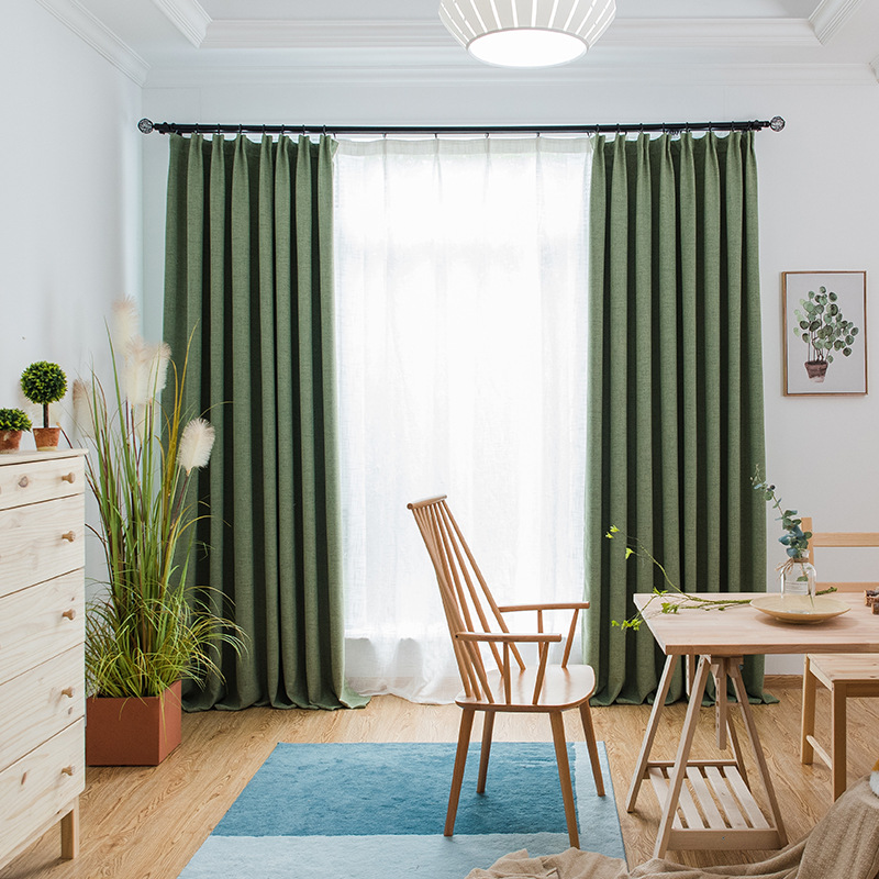Blackout Curtains For Bedroom Thermal Insulated Window Drapes Noise Insulation Curtain Custom Made