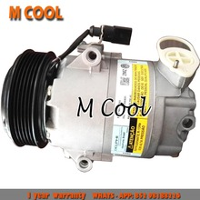 For AC Air Conditioner Compressor Volkswagen Fox Polo Crossfox Space Fox compressor For skoda 5Z0820803 цена
