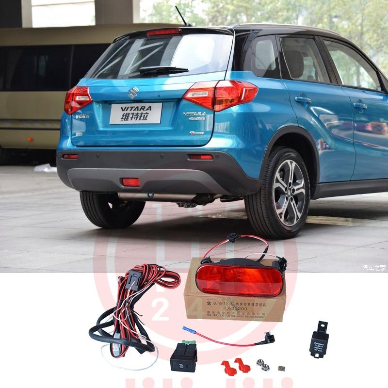 Med switch Baghale Bumpe Tågelygterlamper med switch til Suzuki Vitara ESCUDO 2016-