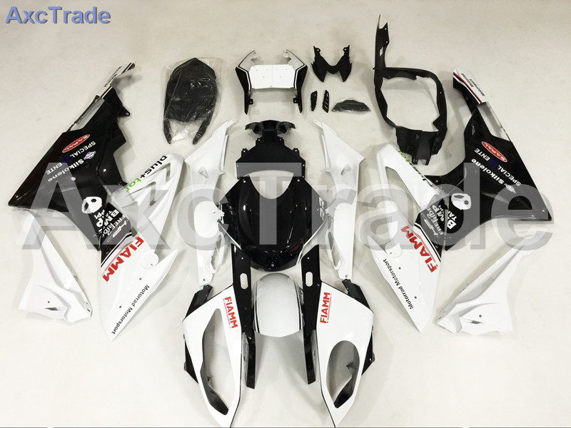 Motorcycle Fairings Kits For BMW S1000RR S1000 2015 2016 15 16 ABS Plastic Injection Fairing Bodywork Kit White Black A457 motorcycle blue bodywork kit fairing for bmw s1000rr s 1000 rr s 1000rr 2015 15 injection mold fairings cowl set uv painted