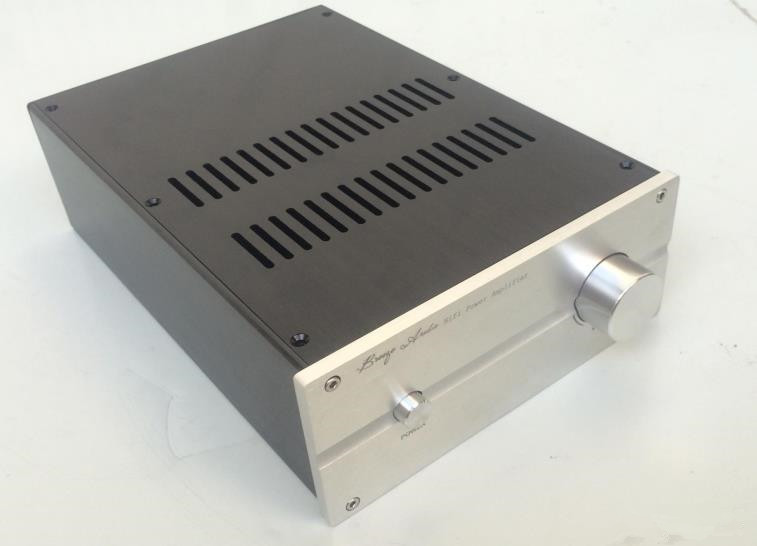 цена на JC229H New All Aluminum Chassis Amplifier Enclosure Power Amp Case DIY Box 220MM*90MM*311MM