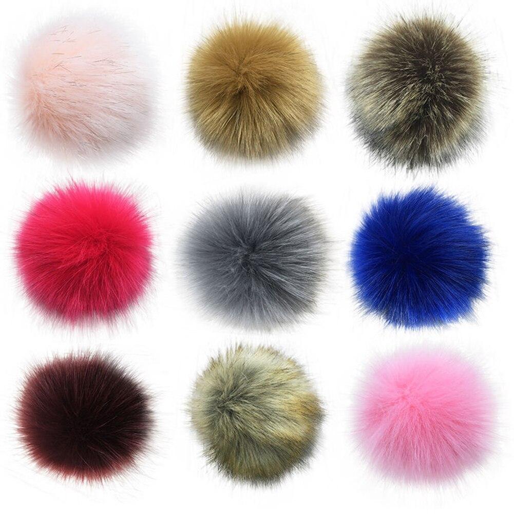 14cm Soft Faux Fur PomPom DIY Car Handbag Keychain Fluffy Ball Pendant