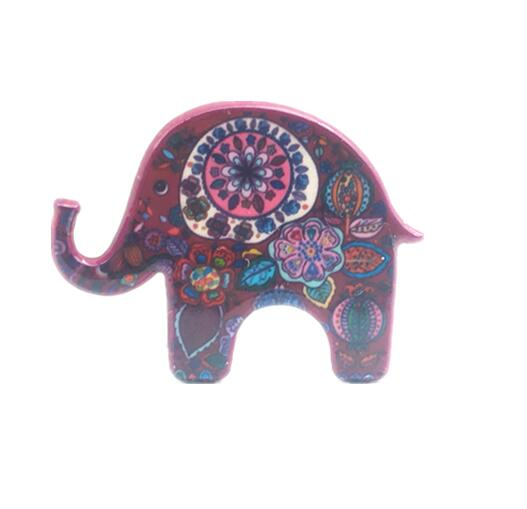 hot sale animal Jewelry sincere gift colour Acrylic Elephant Brooch charm Elephant Brooch for women best gift fashion new 2018