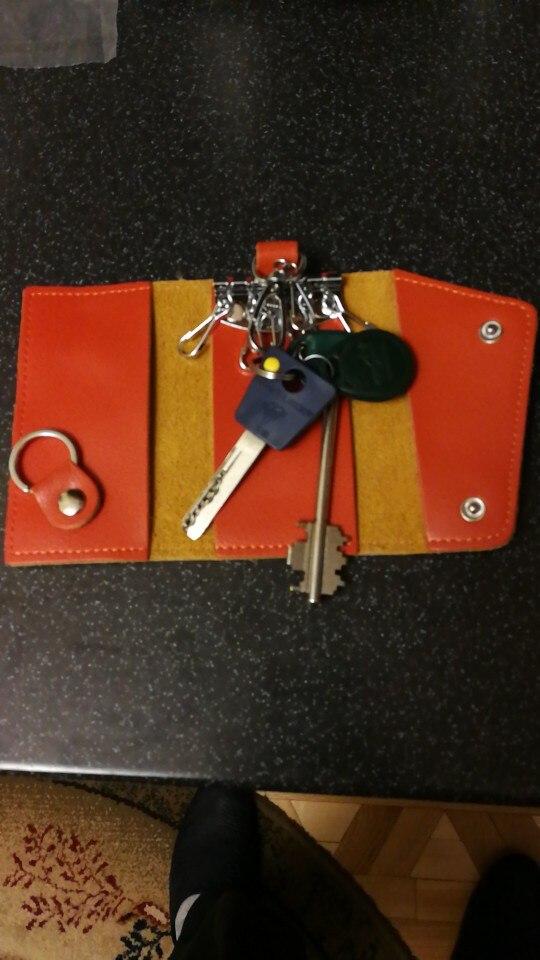 Designer Leather Men Car Key Bag Women Coin Purse fashion key holder Wallet Electronic Keys case photo review