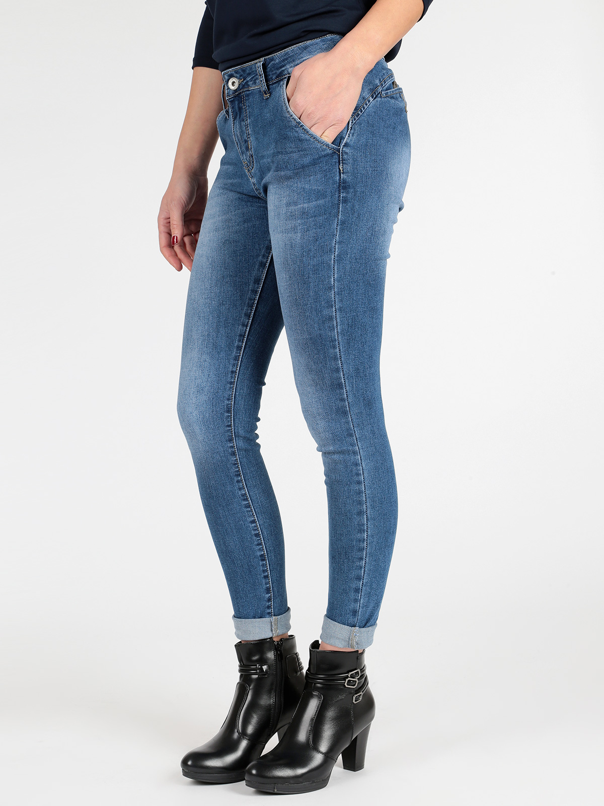 Stretch Denim Effect Washed