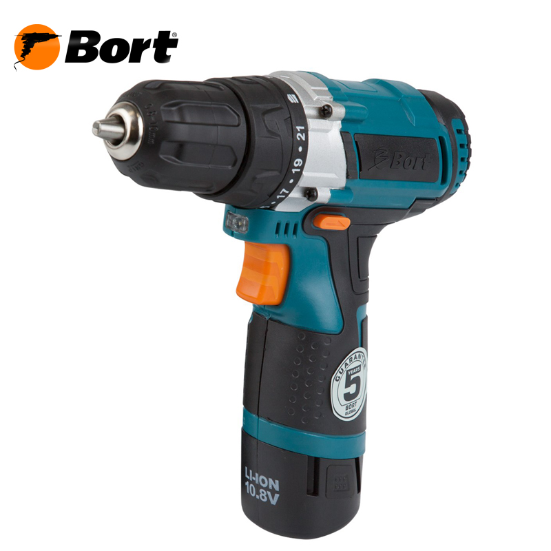 10V 12V Bort Li-Ion Lithium Battery Electric Drill Cordless Screwdriver Mini Drill Cordless Screwdriver Power Tools Cordless Drill BAB-10,8N-Li hilda 16 8v electric screwdriver lithium battery 2 electric drill furadeira cordless screwdriver power tools with drill bit case