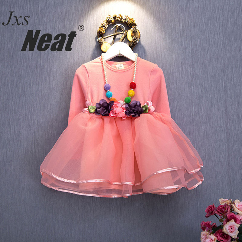 NEATMX Kids Girls Dresses Autumn and Winter Korean version of the small long-sleeved Princess girl dress dance dress H28290-0059 textiles and dress of gujarat