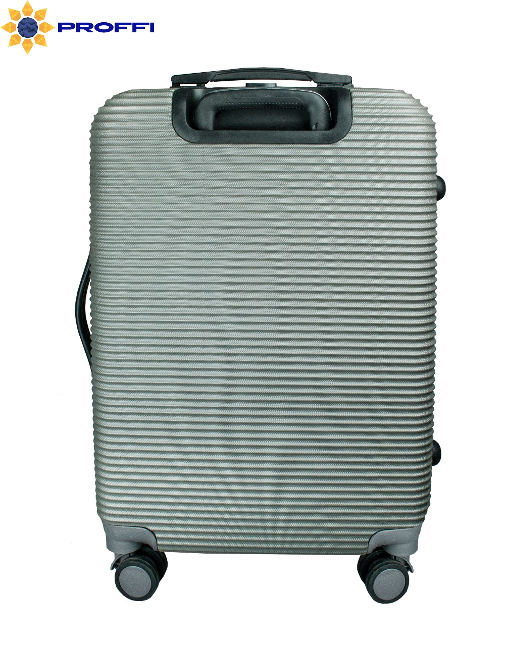 Plastic suitcase PROFFI TRAVEL PH8859grey, gray, M, with built-in scales, on wheels