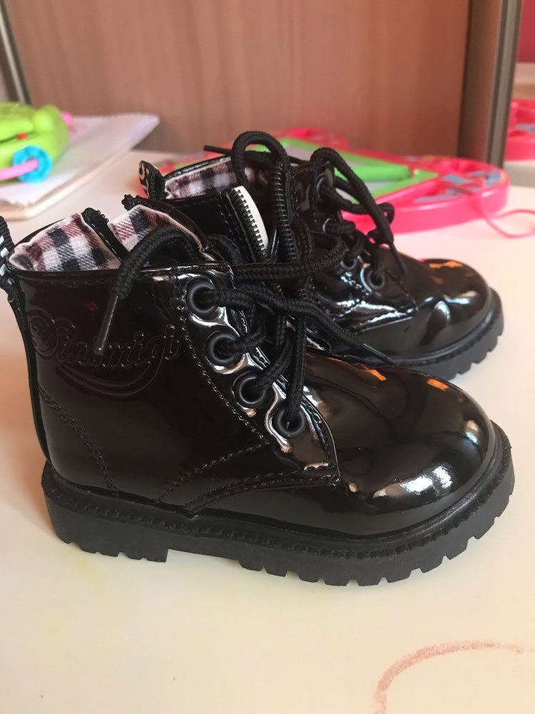 Children Shoes Snow Boots PU Leather Waterproof Rubber Sneakers Spring Autumn Winter Kids Chaussure Enfant Boys Girls Shoes
