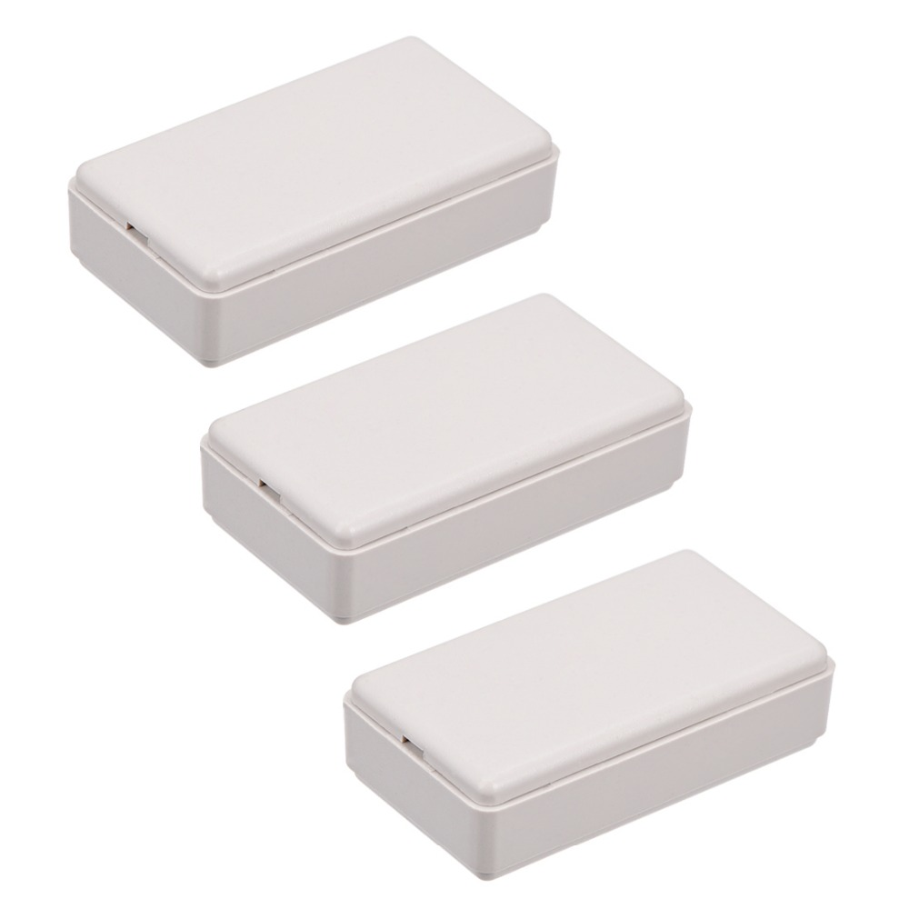 Uxcell 3Pcs/lot 48 X 27 X 14mm 69 X 42 X 17.5mm White Black Electronic Plastic ABS DIY Project Junction Box Enclosure Case