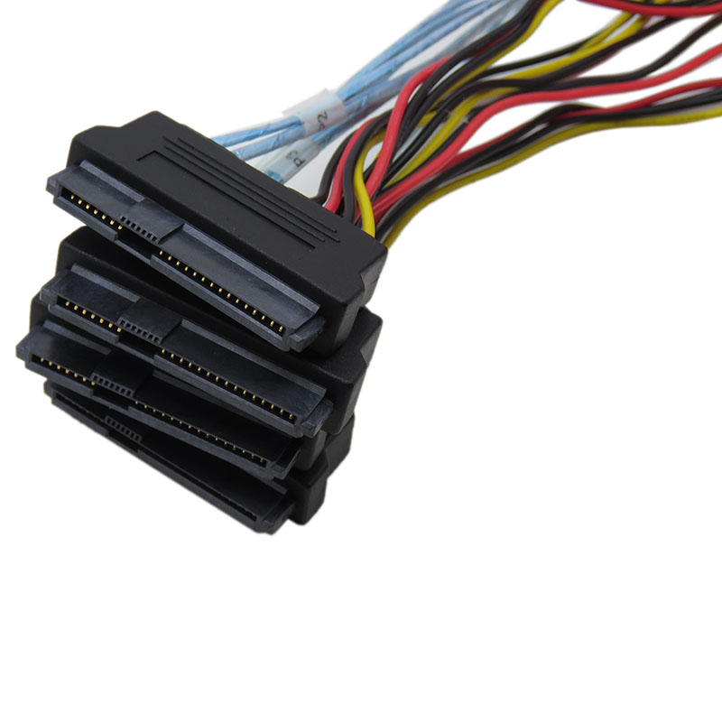 все цены на sas sata cables for HDD server Display card MINI SAS 4i SFF-8087 36Pin To 4 SAS 29Pin Sff 8482 +4pin power cable 1m