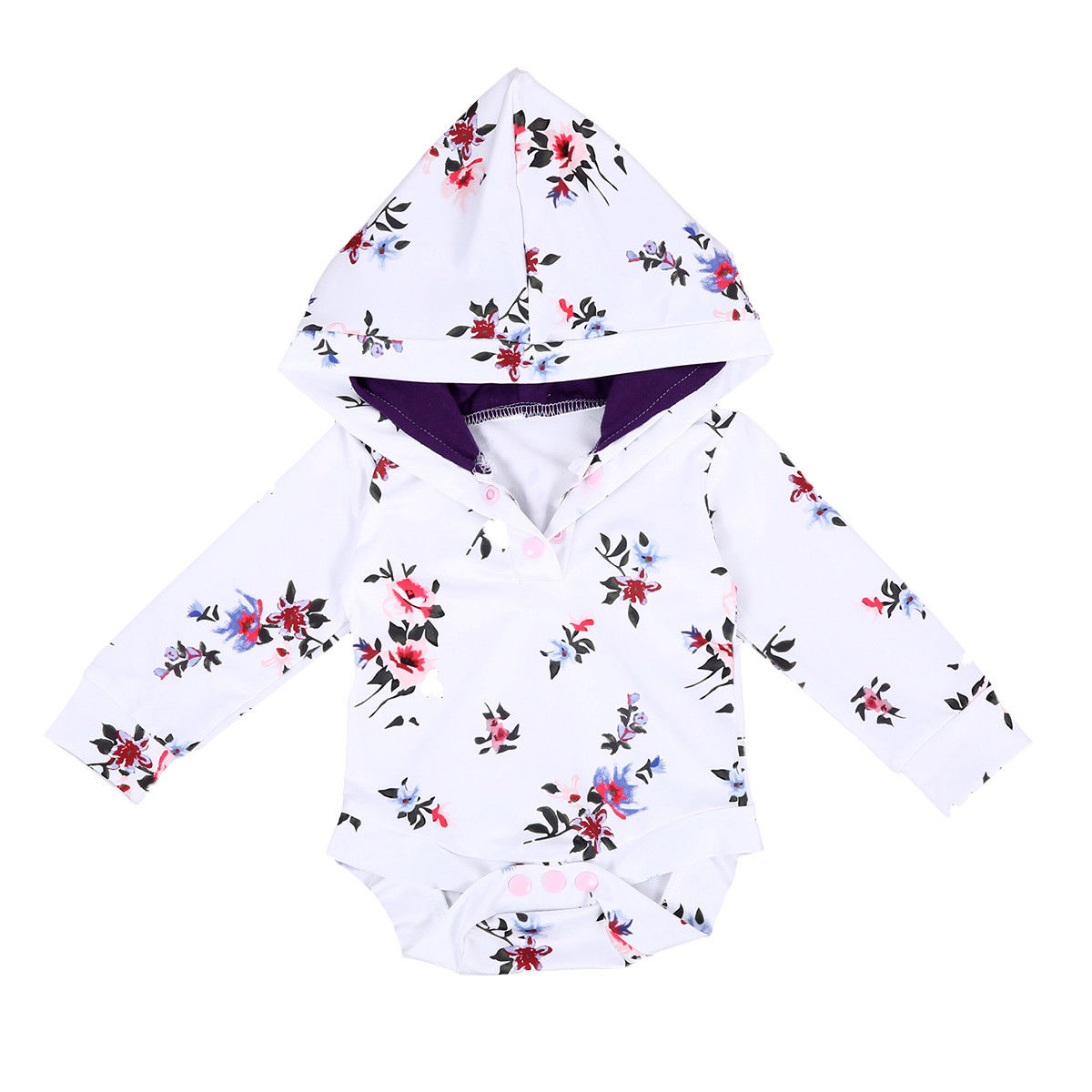 Baby Rompers Long Sleeve Romper Hooded Infant Baby Boy Girl Floral Jumpsuit Outfit Autumn Fashion Baby Clothes newborn infant baby girls boys rompers long sleeve cotton casual romper jumpsuit baby boy girl outfit costume