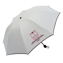 QIANYU Chuva Mulheres Automáticas do Guarda-chuva Dobrável mini Guarda  Chuvas À Prova de Vento Preto Revestimento Anti UV Paraso. 511f781369