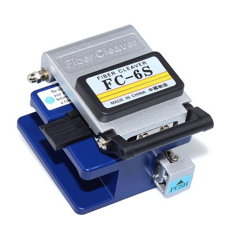 AUA FC-6S Easy Splicer Fiber Optic Fusion Splicer Connector Optical Fiber Cleaver Automatic Focus Function FTTH