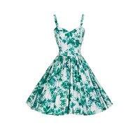 Vestito 2017 Hepburn stile ristabilisce i sensi antichi vestito rotto bella condole vestito sexy vestito affascinante Verde Vestido