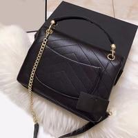 High Quality Women's Shoulder Bag Genuine Leather Handbags Chain Crossbody Bags Ladies Fashion Female Messenger Bags soft