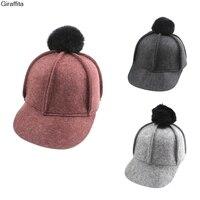 Korea New Hat Winter Hair Ball Cap Cute Peaked Cap Lady England Big Rabbit Hairball Cap