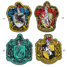 Harry Potter Snake Lion Iron On Patch Embroidered Clothes Patch For Clothing Clothes Stickers(China)