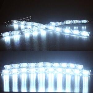 Светодиодный 2х автомобильный гибкий белый/янтарный переключатель, рыцарь, наездник, ленточный светильник, для головы, светильник, последов...