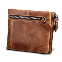 BUG RFID Wallet Antitheft Scanning Leather Card Holders Hasp Men S Slim Leather Mini Wallet RFID