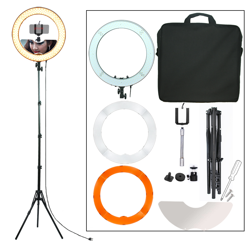 enggue Camera Photo Studio Teléfono Video 55W 240PCS LED Anillo de - Cámara y foto
