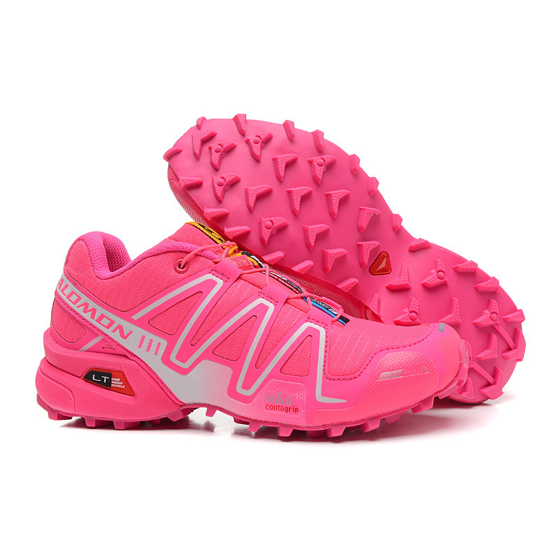 Salomon Speed Cross 3 CS Anti-Slip Sneaker Comfortable Jogging Shoes Women Running Shoes Pink eur 36-41