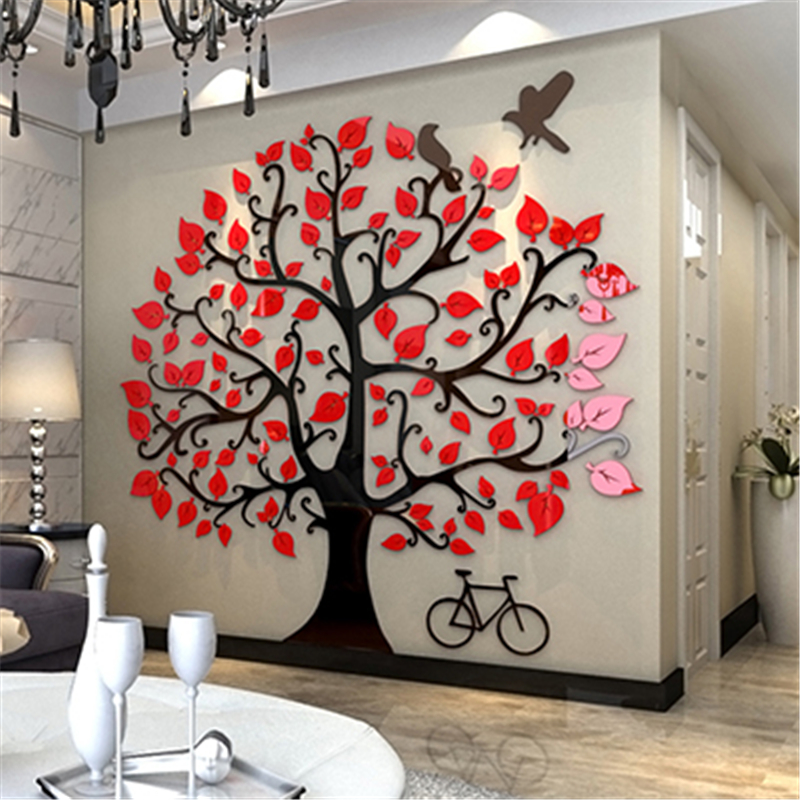 aliexpress : buy big tree acrylic 3d wall stickers living room