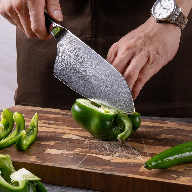 Cleaver Knife 7 2 inch VG10 Japanese Damascus Steel Kitchen Knives 67 Layers Butcher Tools Chef