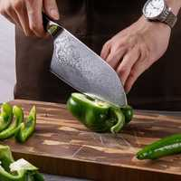 Mannaia Coltello 7.2 pollice VG10 Giapponese di Damasco Coltelli Da Cucina In Acciaio 67 Strati Macellaio Strumenti del Cuoco Unico Giapponese di Damasco Damasco Lama di Pro