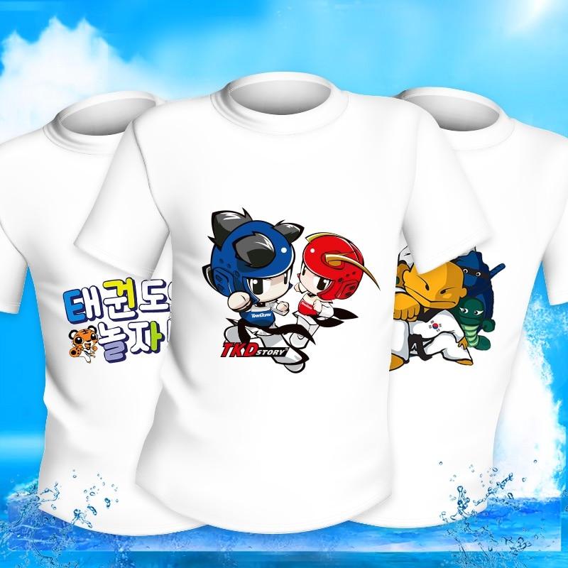 Teakwondo clothes Teakwondo T-shirt accept oem logo taekwondo uniform