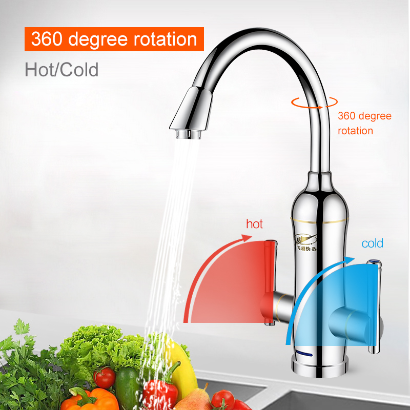feiyu water heater kitchen instant hot water tap electric water faucet heater 3400w