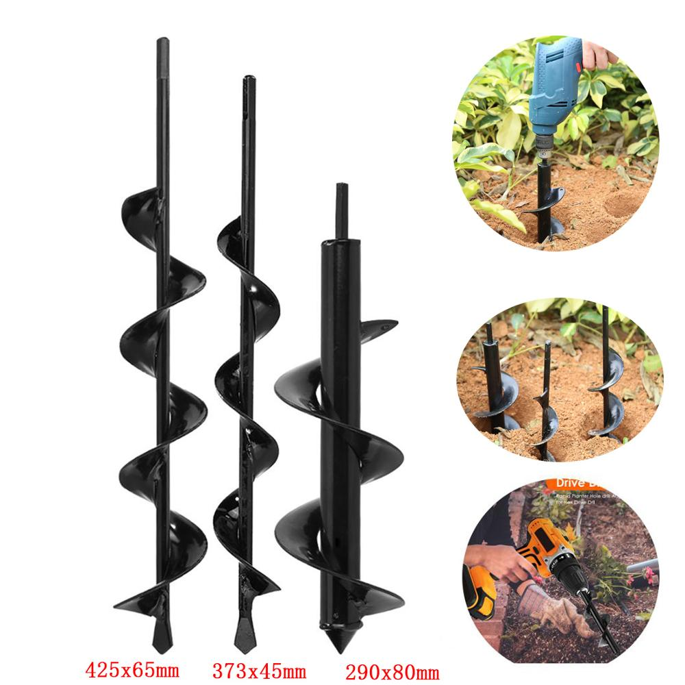1PCS Earth Auger Hole Digger Tools Planting Machine Garden Drill Bit Fence Borer Petrol Post Hole Digger Garden Tool