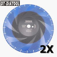 DT DIATOOL 2pcs 14 inches Vacuum Brazed Diamond Cutting Disc One for all 350mm Rescue Saw Blade Cast Iron Rebar Steel Pipe Stone